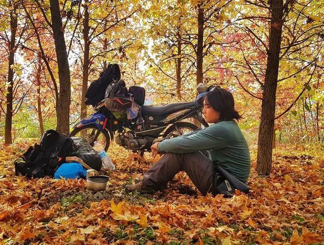 Vietnamese rides motorbike around the world in 1111 days - ảnh 2