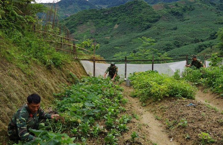 Soldiers step up COVID-19 prevention efforts at border crossings - ảnh 10