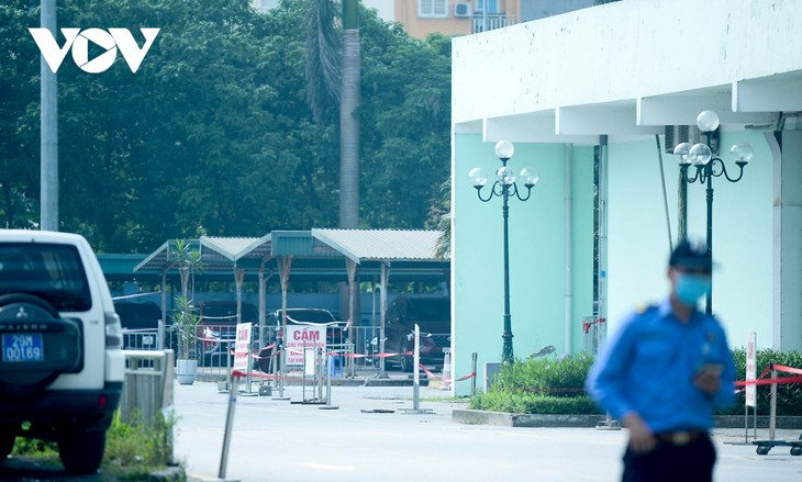 Hình ảnh phong tỏa Viện K Tân Triều sau khi phát hiện 10 ca mắc Covid-19 - ảnh 13