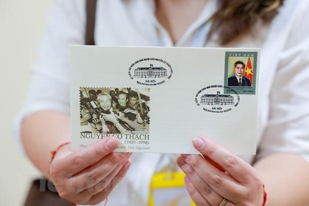 Lần đầu tiên phát hành một bộ tem về nhà ngoại giao Nguyễn Cơ Thạch - ảnh 3
