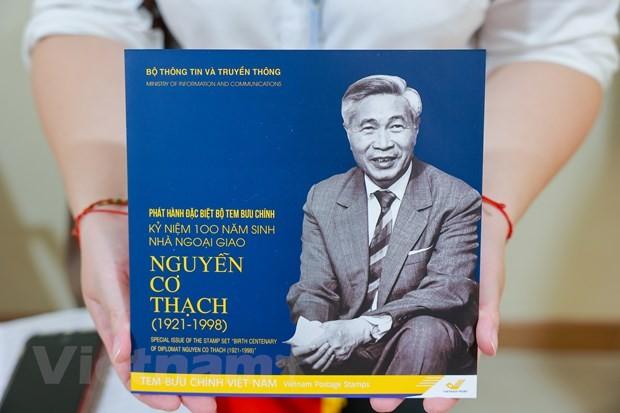 Lần đầu tiên phát hành một bộ tem về nhà ngoại giao Nguyễn Cơ Thạch - ảnh 4