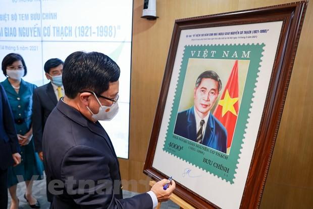 Lần đầu tiên phát hành một bộ tem về nhà ngoại giao Nguyễn Cơ Thạch - ảnh 7