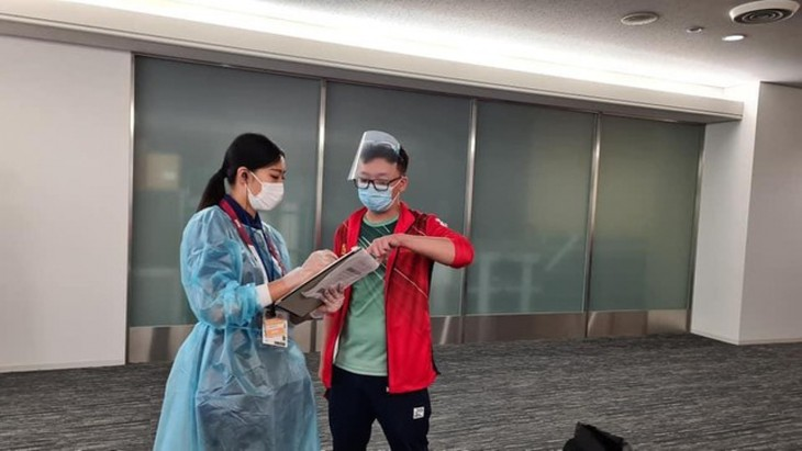 Vietnamese athletes arrive in Japan for 2020 Tokyo Olympics - ảnh 4