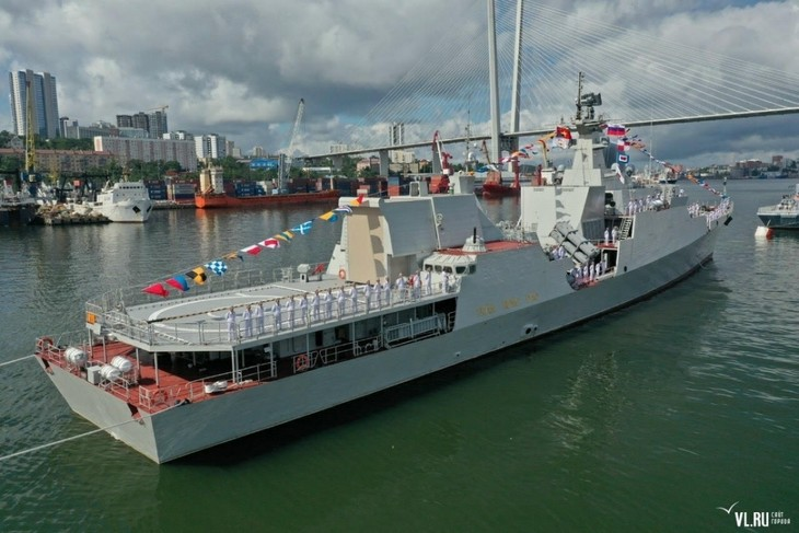 Vietnamese Navy Gepard frigates join military parade in Russia - ảnh 4