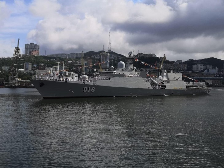 Vietnamese Navy Gepard frigates join military parade in Russia - ảnh 5
