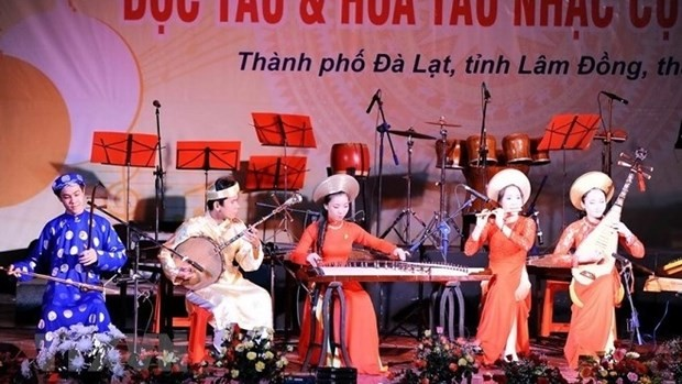 Traditional instrument solo and orchestra contest held in five cities - ảnh 1