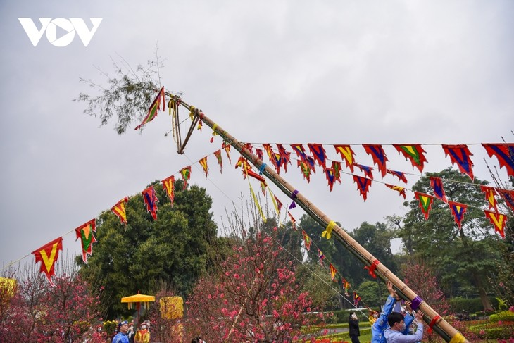 Thang Long relic site sees reenactment of traditional Tet rituals - ảnh 8