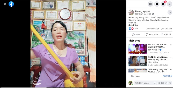 Tay woman uses Then melodies to communicate on COVID-19 - ảnh 1