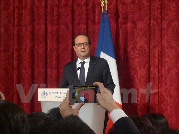 Tổng thống Pháp gặp mặt cộng đồng châu Á nhân dịp Tết Nguyên đán cổ truyền  - ảnh 1