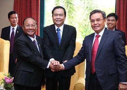 Hội nghị Chủ tịch Mặt trận ba nước Campuchia - Lào - Việt Nam lần thứ 3 - ảnh 1
