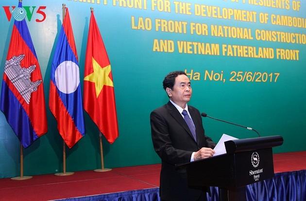 Hội nghị Chủ tịch Mặt trận ba nước Campuchia - Lào - Việt Nam lần thứ 3 - ảnh 2