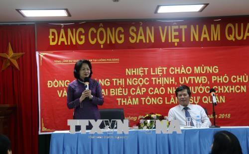 Phó Chủ tịch nước Đặng Thị Ngọc Thịnh kết thúc tốt đẹp chuyến thăm chính thức CHDCND Lào - ảnh 1