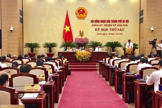 Bế mạc kỳ họp Hội đồng nhân dân thành phố Hà Nội - ảnh 1