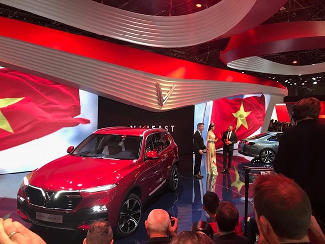 VinFast - thương hiệu ôtô đầu tiên của Việt Nam chính thức ra mắt tại Paris Motor Show 2018 - ảnh 1