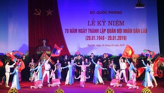 Hoạt động kỷ niệm 70 năm Ngày thành lập Quân đội nhân dân Lào - ảnh 1