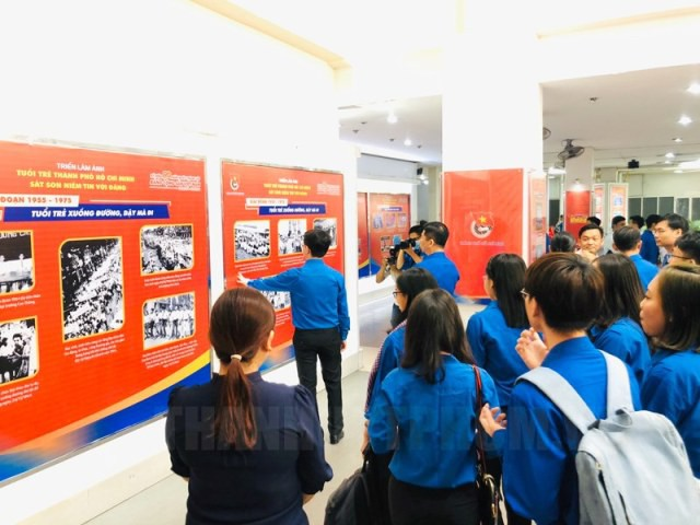 Triển lãm ảnh Tuổi trẻ Thành phố Hồ Chí Minh sắt son niềm tin với Đảng - ảnh 1