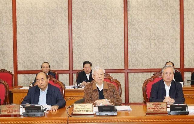 Bộ Chính trị cho ý kiến hoàn thiện dự thảo Văn kiện Đại hội XIII của Đảng gửi đại hội đảng bộ cơ sở - ảnh 1