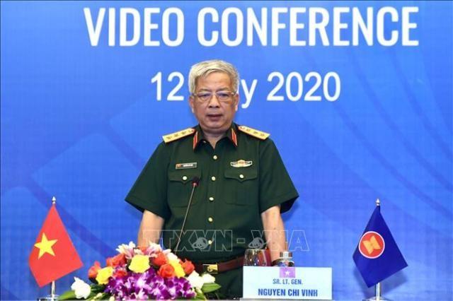 Hội nghị trực tuyến Nhóm làm việc quan chức Quốc phòng cấp cao ASEAN - ảnh 1