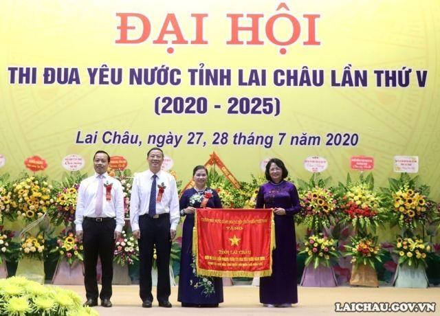 Phó Chủ tịch nước Đặng Thị Ngọc Thịnh dự Đại hội thi đua yêu nước tỉnh Lai Châu - ảnh 1