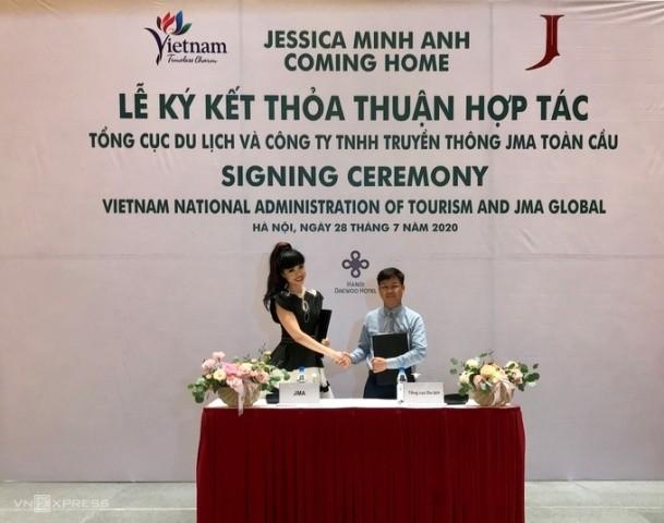Siêu mẫu nổi tiếng thế giới Jessica Minh Anh quảng bá điểm đến Việt Nam - ảnh 1