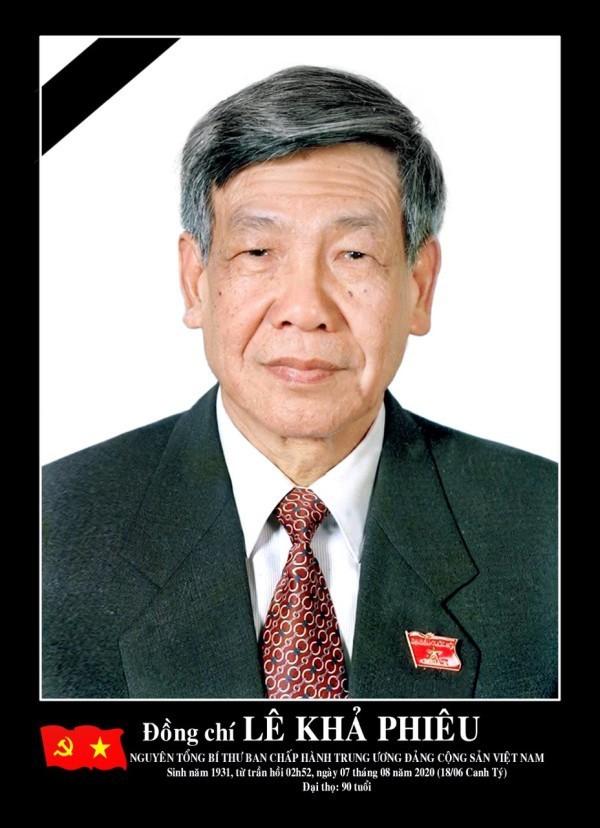Thông cáo đặc biệt về Lễ tang nguyên Tổng Bí thư Lê Khả Phiêu - ảnh 1
