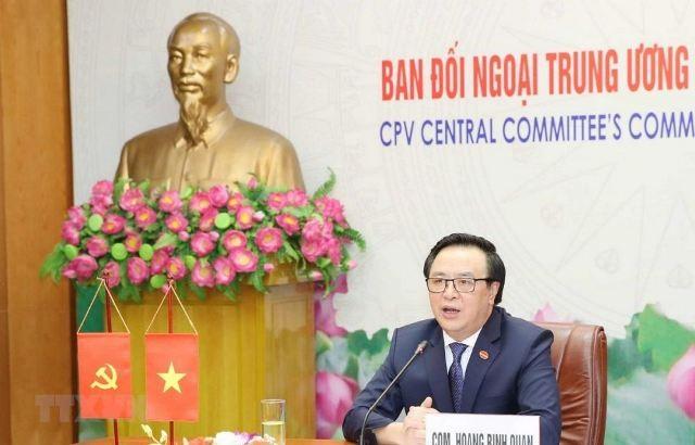 Trưởng ban Đối ngoại Trung ương hội đàm trực tuyến với Phó Chủ tịch,Trưởng ban Quốc tế Trung ương Đảng Cộng sản Nhật Bản - ảnh 1