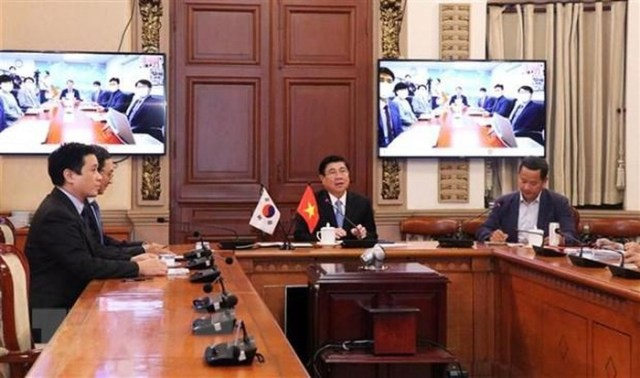 Thành lập tổ hợp tác liên ngành online thúc đẩy hợp tác song phương Thành phố Hồ Chí Minh - Busan, Hàn Quốc - ảnh 1