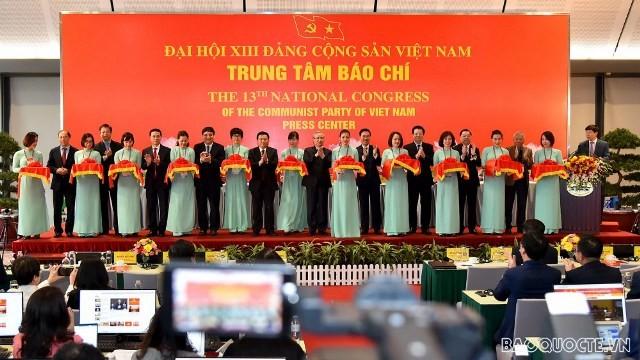 Khai trương  trung tâm báo chí phục vụ Đại hội lần thứ XIII của Đảng  - ảnh 1