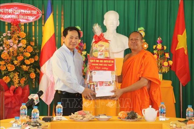 Chúc mừng Tết cổ truyền Chôl Chnăm Thmây của đồng bào Khmer - ảnh 1