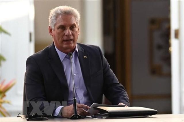 Điện mừng Bí thư thứ nhất Ban Chấp hành Trung ương Đảng Cộng sản Cuba Miguel Díaz-Canel Bermúdez - ảnh 1