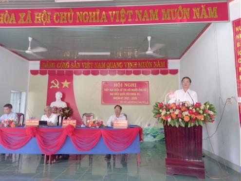 Trưởng Ban Kinh tế Trung ương Trần Tuấn Anh tiếp xúc cử tri, vận động bầu cử tại tỉnh Khánh Hòa - ảnh 1