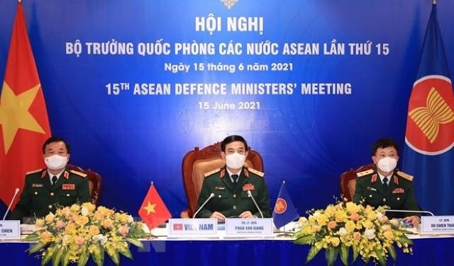 Hội nghị trực tuyến Bộ trưởng Quốc phòng các nước ASEAN lần thứ 15 - ảnh 1
