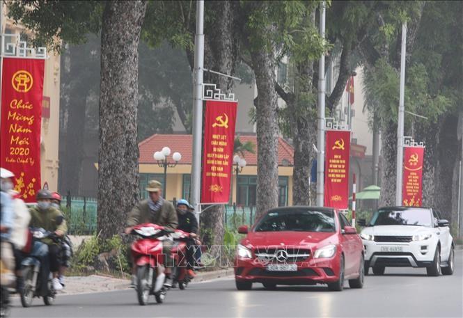 Hà Nội rực rỡ cờ, hoa mừng 90 năm Ngày thành lập Đảng - ảnh 4