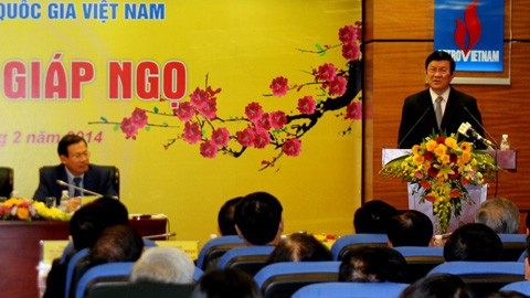 Destaca presidente vietnamita logros de Grupo Petrolero nacional - ảnh 1