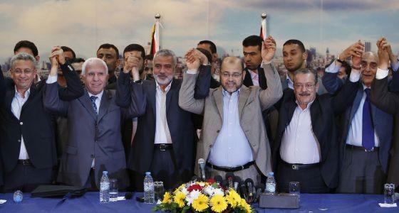 Estados Unidos e Israel critican pacto de reconciliación de partidos palestinos - ảnh 1