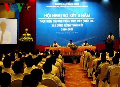 Vietnam valora los 3 años de renovación rural - ảnh 1