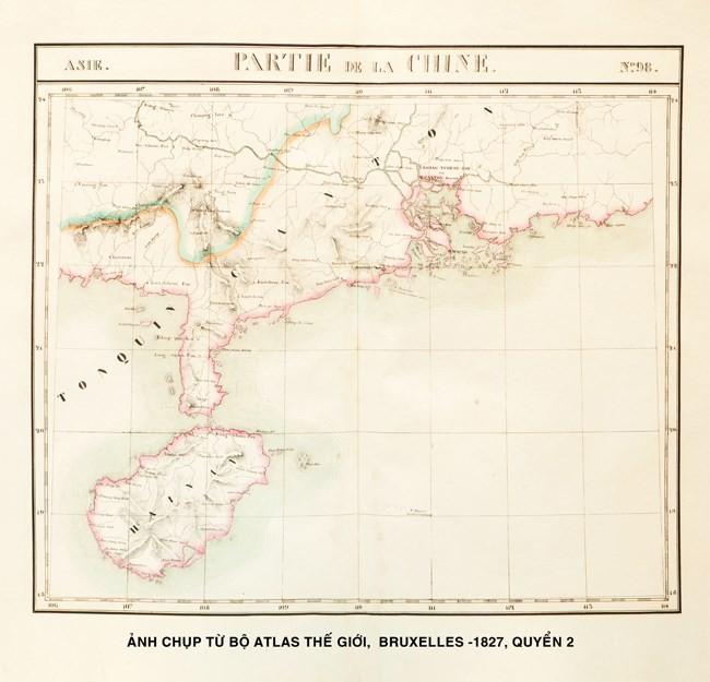 Atlas geográfico mundial 1827 confirma soberanía marítima de Vietnam - ảnh 2