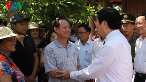 Urge el presidente vietnamita a Nghe An a reorganizar la producción  - ảnh 1