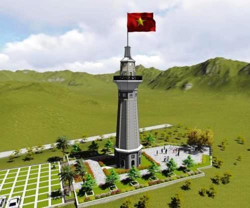Empieza construcción de torre de bandera nacional Lung Po  - ảnh 1