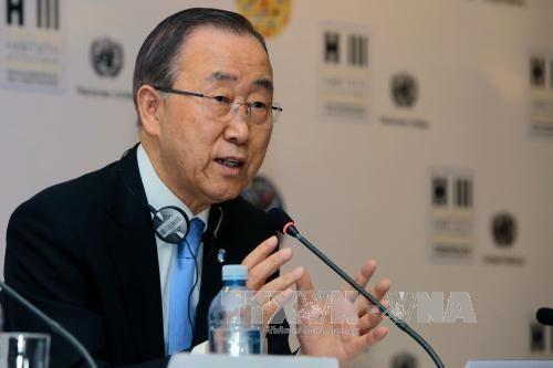 Ban Ki-moon descarta solución militar para crisis siria - ảnh 1