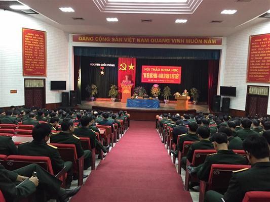 Efectúan seminario sobre los 40 años de fundada Academia Nacional de Defensa de Vietnam - ảnh 1