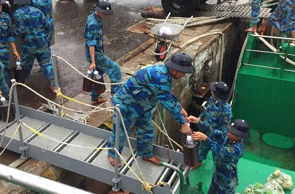Llegarán a Truong Sa 500 toneladas de productos para la Fiesta tradicional del Tet  - ảnh 1