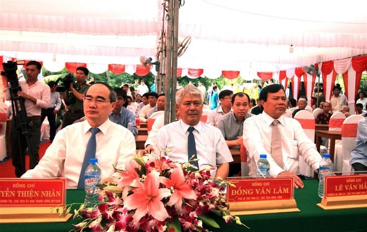 Inician construcción de un puente en conmemoración de la refundación de Tra Vinh - ảnh 1