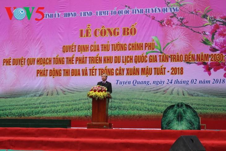 Tierra revolucionaria de Tan Trao, por convertirse en importante zona turística nacional en 2030 - ảnh 1