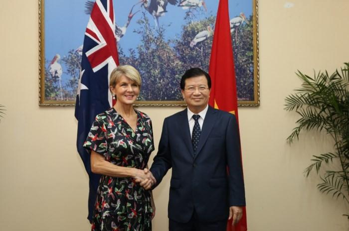 Vicepremier vietnamita se reúne con la canciller australiana - ảnh 1