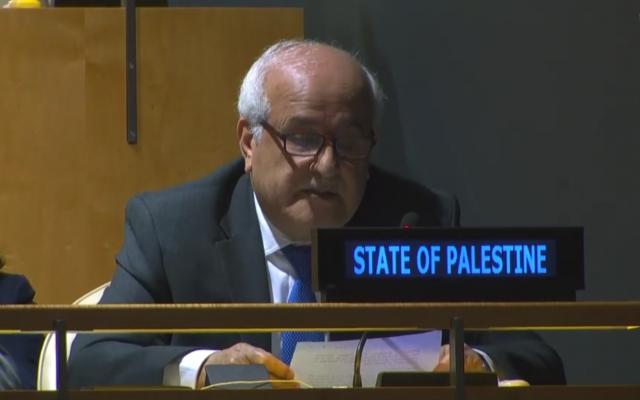 Palestina será presidente provisional del Grupo de países en vías de desarrollo de la ONU - ảnh 1
