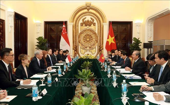 Vietnam y Singapur promueven la asociación estratégica - ảnh 1