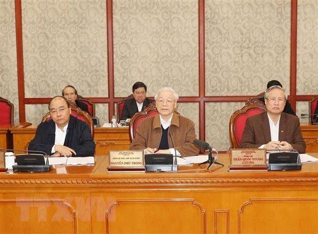 Buró Político del Partido Comunista de Vietnam da orientaciones para contener brote epidémico - ảnh 1