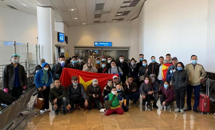 Repatrían a ciudadanos vietnamitas varados en países africanos - ảnh 1