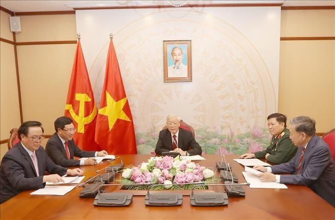 Líderes de Vietnam y Camboya satisfechos por fructíferas relaciones binacionales - ảnh 1